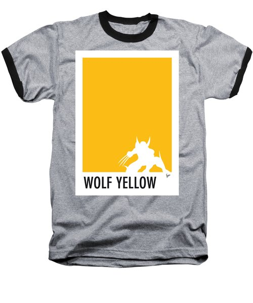 My Superhero 05 Wolf Yellow Minimal Poster Baseball T-Shirt