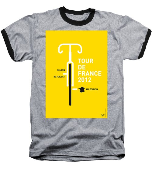 My Tour De France 2012 Minimal Poster Baseball T-Shirt