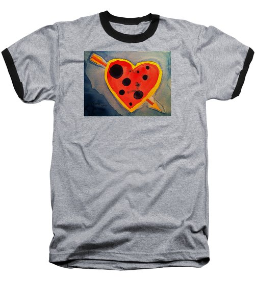 Baseball T-Shirt featuring the painting Imperfect Love by Rand Swift