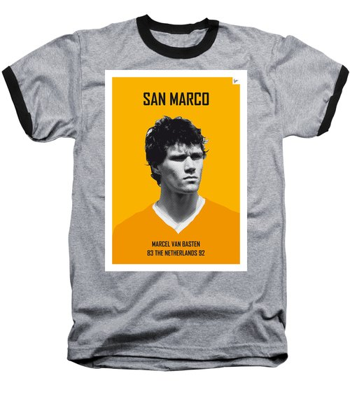 My Van Basten Soccer Legend Poster Baseball T-Shirt by Chungkong Art