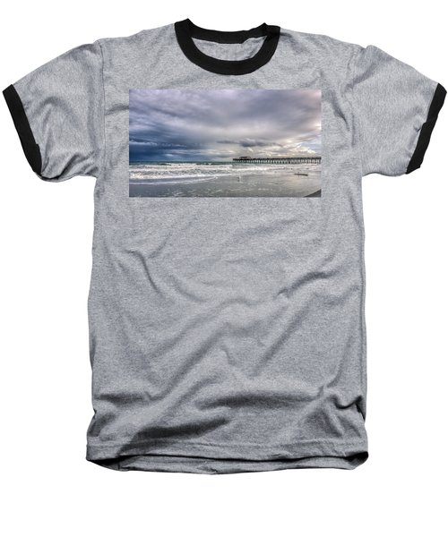 Myrtle Beach Fishing Pier Baseball T-Shirt by Rob Sellers