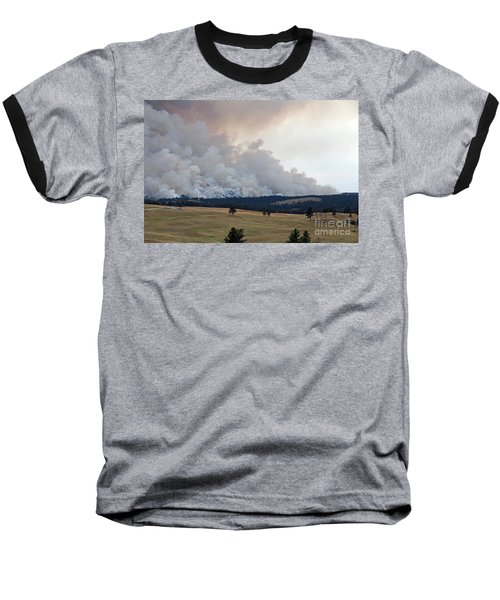 Baseball T-Shirt featuring the photograph Myrtle Fire West Of Wind Cave National Park by Bill Gabbert