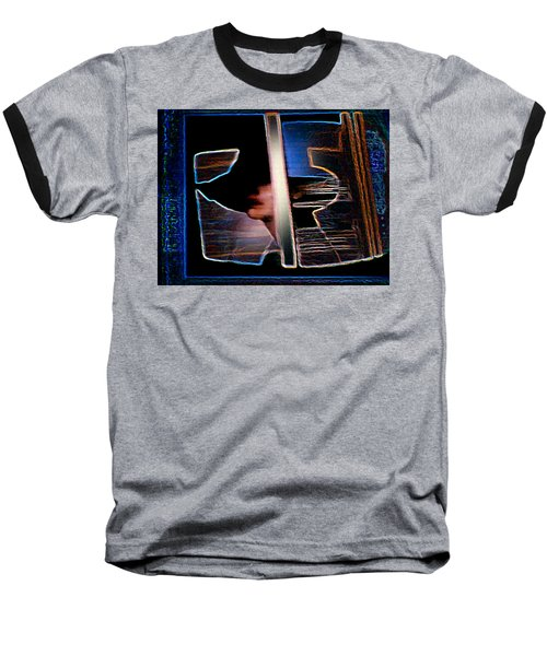 Baseball T-Shirt featuring the painting Mysterious Lady by Hartmut Jager