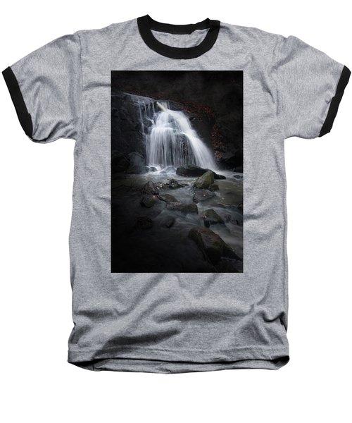 Mysterious Waterfall Baseball T-Shirt