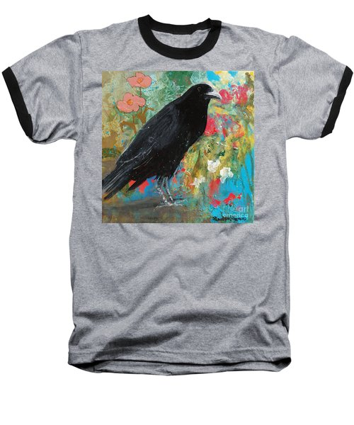 Baseball T-Shirt featuring the painting Mystery At Every Turn by Robin Maria Pedrero