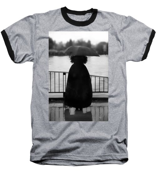 Baseball T-Shirt featuring the photograph Lady At The Lake by Aaron Berg
