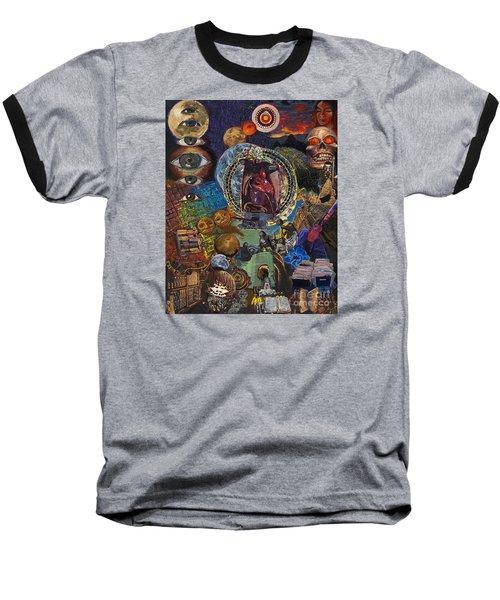 Mystery Of The Human Heart Baseball T-Shirt by Emily McLaughlin