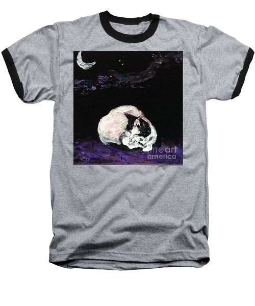Mystic Cat Nap  Baseball T-Shirt