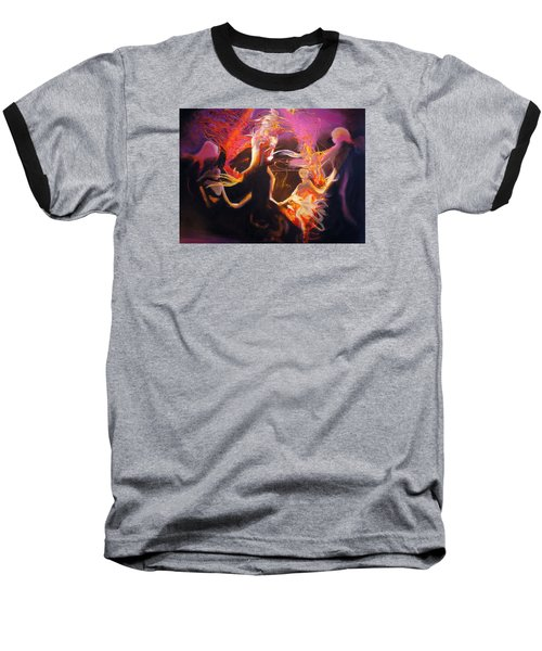 Baseball T-Shirt featuring the painting Mystic Circle by Georg Douglas