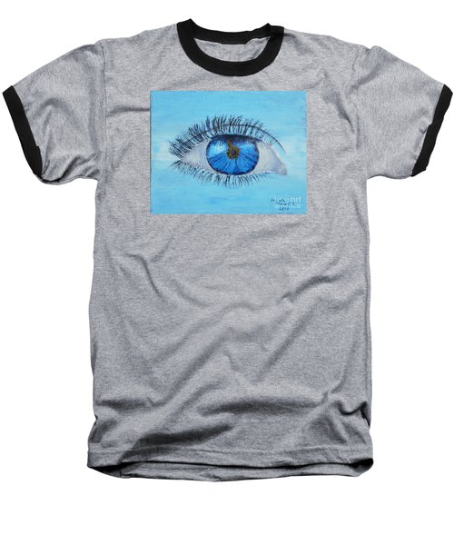 Baseball T-Shirt featuring the painting Mystic Eye by Pamela  Meredith