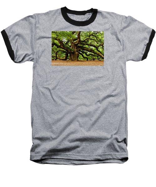 Mystical Angel Oak Tree Baseball T-Shirt