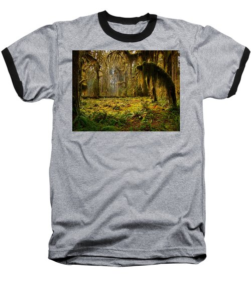 Mystical Forest Baseball T-Shirt by Leland D Howard