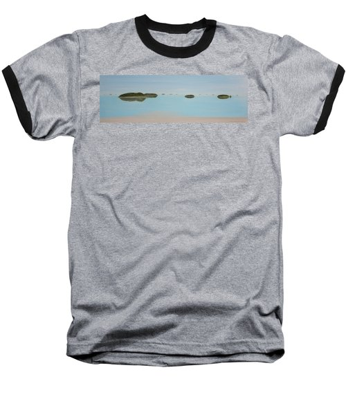Baseball T-Shirt featuring the painting Mystical Islands by Tim Mullaney