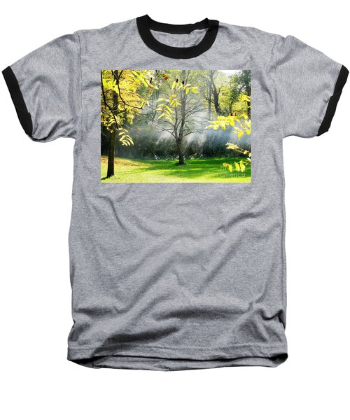 Baseball T-Shirt featuring the photograph Mystical Parkland by Nina Silver