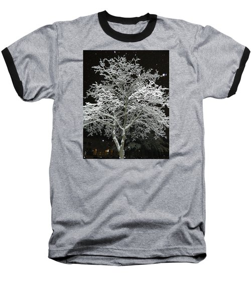 Mystical Winter Beauty Baseball T-Shirt by Emmy Marie Vickers
