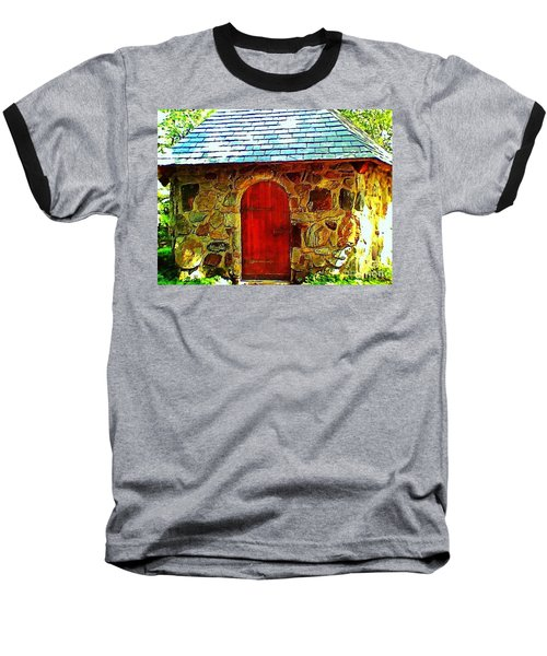 Myth And Mystical Chapel Baseball T-Shirt by Becky Lupe