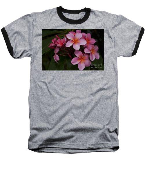Na Lei Pua Melia O Wailua - Pink Tropical Plumeria Hawaii Baseball T-Shirt