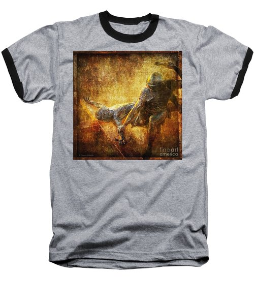 Nailed To The Cross Via Dolorosa 11 Baseball T-Shirt