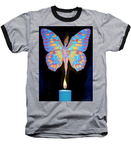Naked Butterfly Lady Transformation Baseball T-Shirt