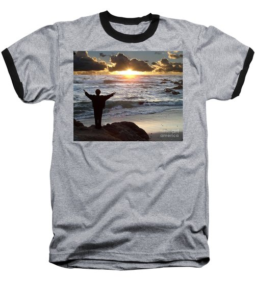 Namaste The Day Baseball T-Shirt