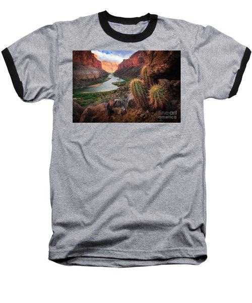 Nankoweap Cactus Baseball T-Shirt by Inge Johnsson
