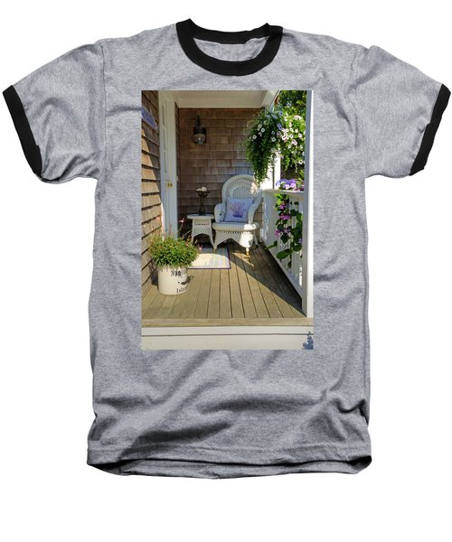 Nantucket Porch Baseball T-Shirt