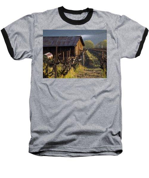 Napa Morning Baseball T-Shirt by Bill Gallagher