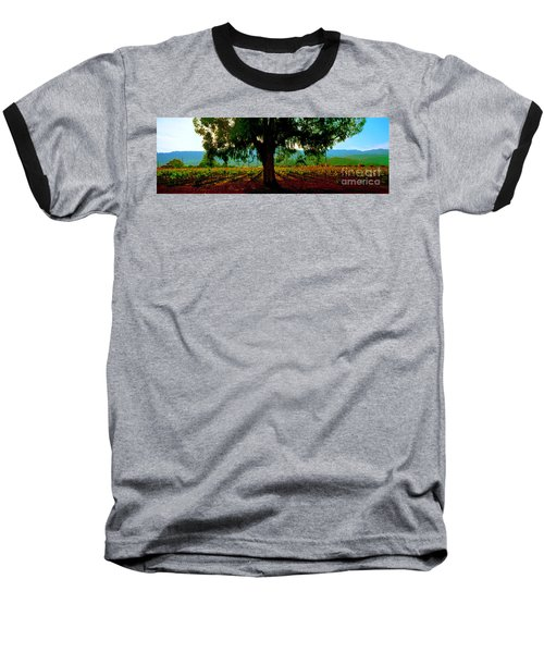 Napa Valley Ingenook Winery Roadside Baseball T-Shirt