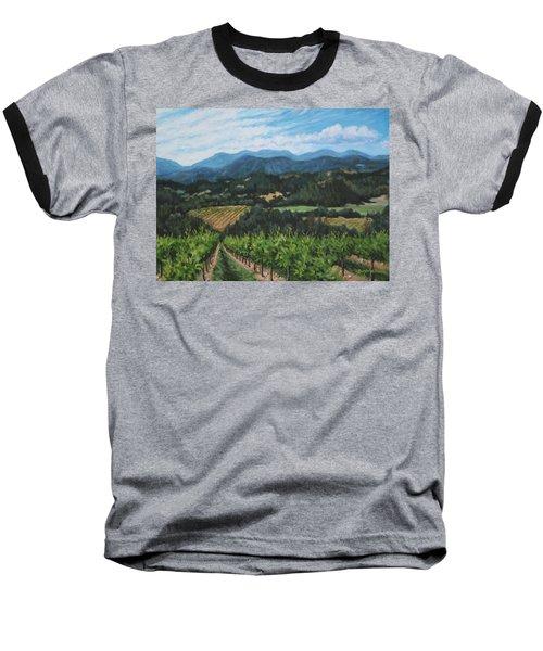 Napa Valley Vineyard Baseball T-Shirt