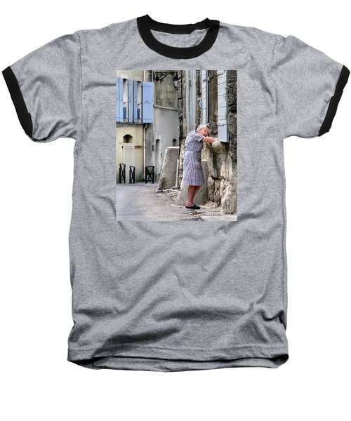 Baseball T-Shirt featuring the photograph Naptime In Arles. France by Jennie Breeze