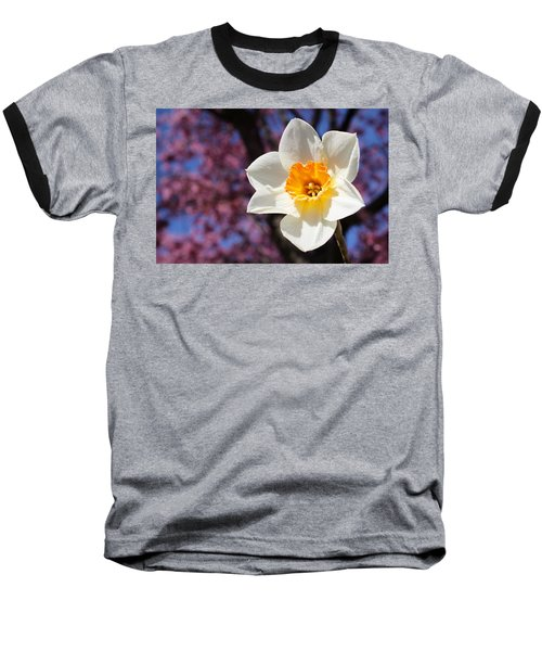 Narcissus And Cherry Blossoms Baseball T-Shirt