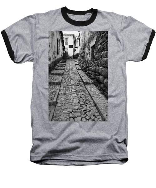 Narrow Street In Cusco Baseball T-Shirt by Alexey Stiop