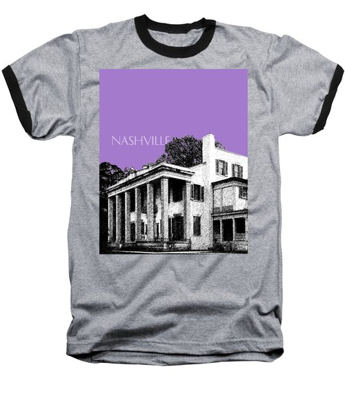 Nashville Skyline Belle Meade Plantation - Violet Baseball T-Shirt