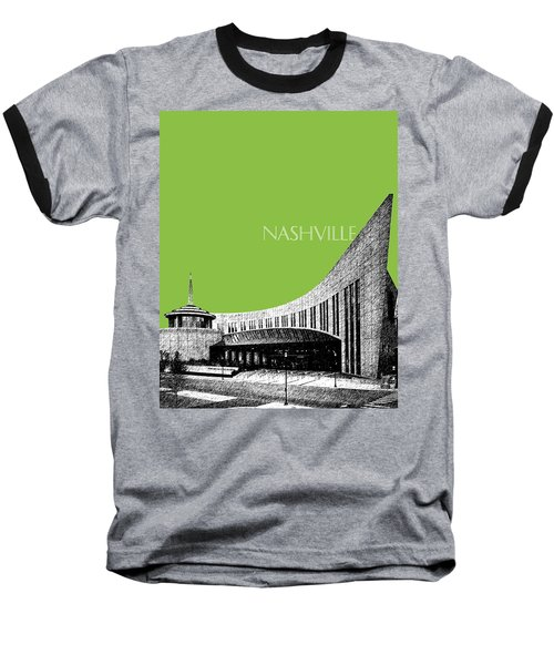 Nashville Skyline Country Music Hall Of Fame - Olive Baseball T-Shirt