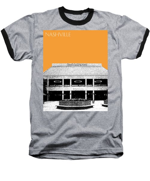 Nashville Skyline Grand Ole Opry - Orange Baseball T-Shirt