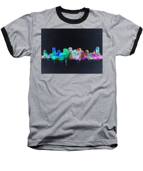 Nashville Skyline Watercolor 10 Baseball T-Shirt