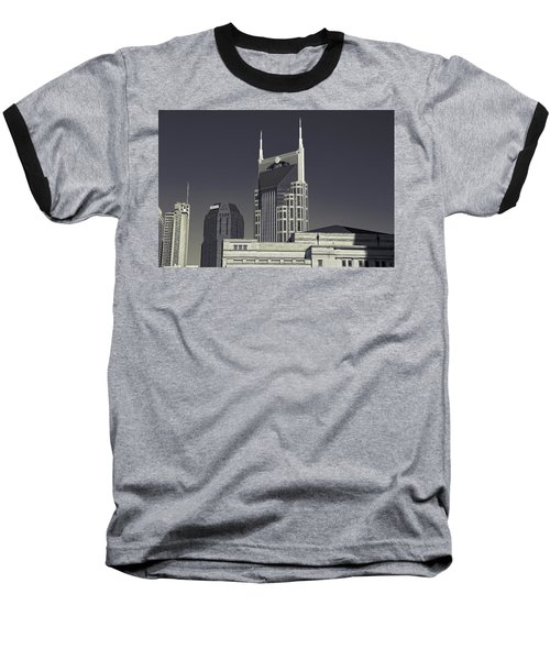 Nashville Tennessee Batman Building Baseball T-Shirt