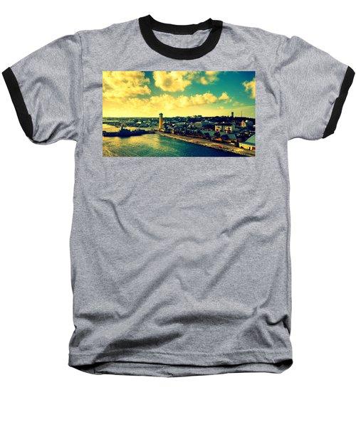 Nassau The Bahamas Baseball T-Shirt by Paulo Guimaraes