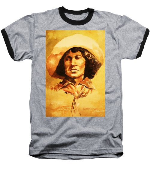 Nat Love Bronc Buster Baseball T-Shirt by Al Brown