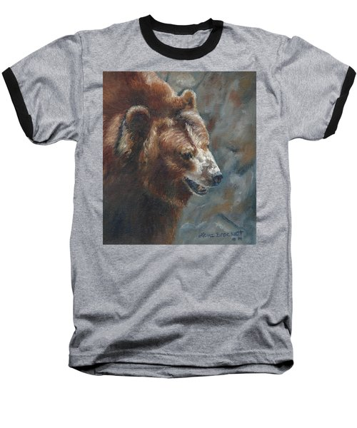 Nate - The Bear Baseball T-Shirt by Lori Brackett