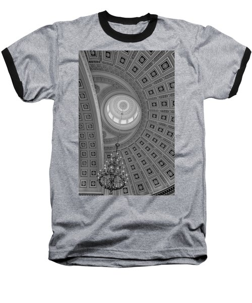 National Statuary Rotunda Bw Baseball T-Shirt
