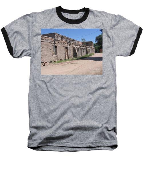 Baseball T-Shirt featuring the photograph Native American Adobe Pueblo by Dora Sofia Caputo Photographic Art and Design