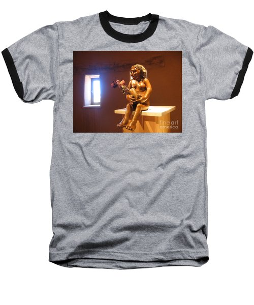 Baseball T-Shirt featuring the photograph Native American Art by Dora Sofia Caputo Photographic Art and Design