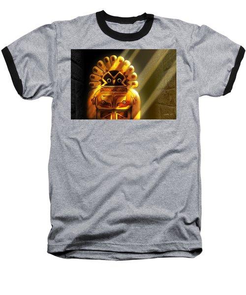 Native American Hawk Spirit Gold Idol Baseball T-Shirt