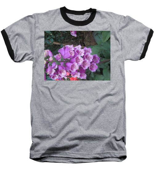 Baseball T-Shirt featuring the photograph Natural Bouquet Bunch Of Spiritul Purple Flowers by Navin Joshi