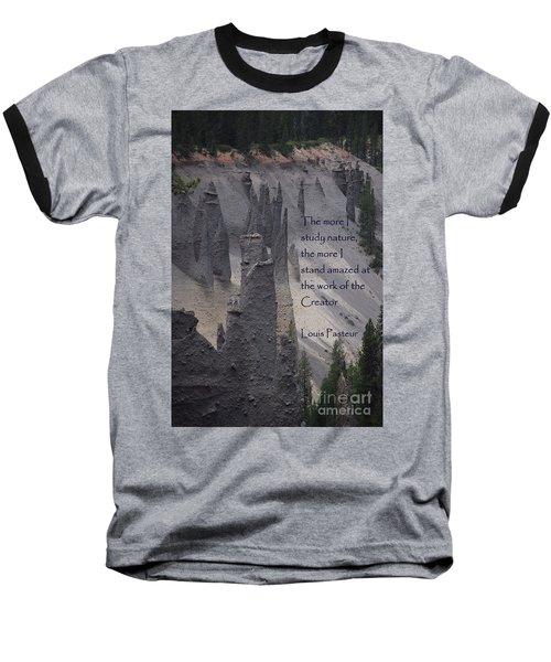 Nature Study Baseball T-Shirt by Sharon Elliott