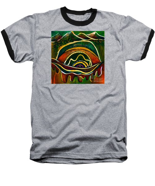 Nature's Child Spirit Eye Baseball T-Shirt by Deborha Kerr