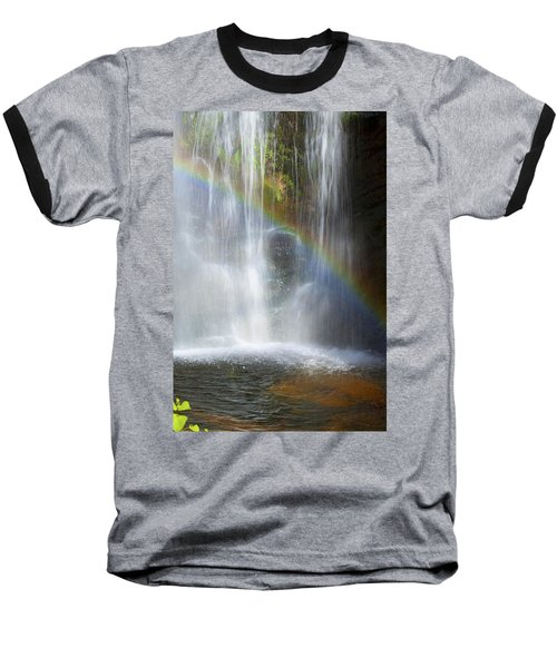 Baseball T-Shirt featuring the photograph Natures Rainbow Falls by Jerry Cowart