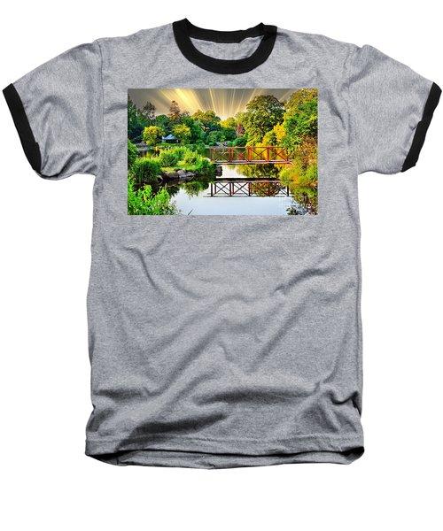 Baseball T-Shirt featuring the photograph Nature's Reflections by Judy Palkimas