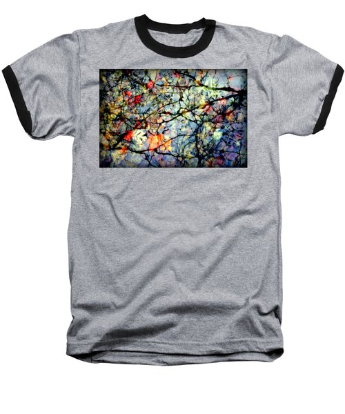 Natures Stained Glass Baseball T-Shirt